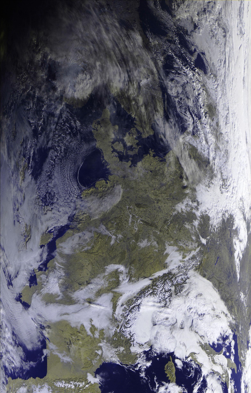 Meteor M2 Über Deutschland